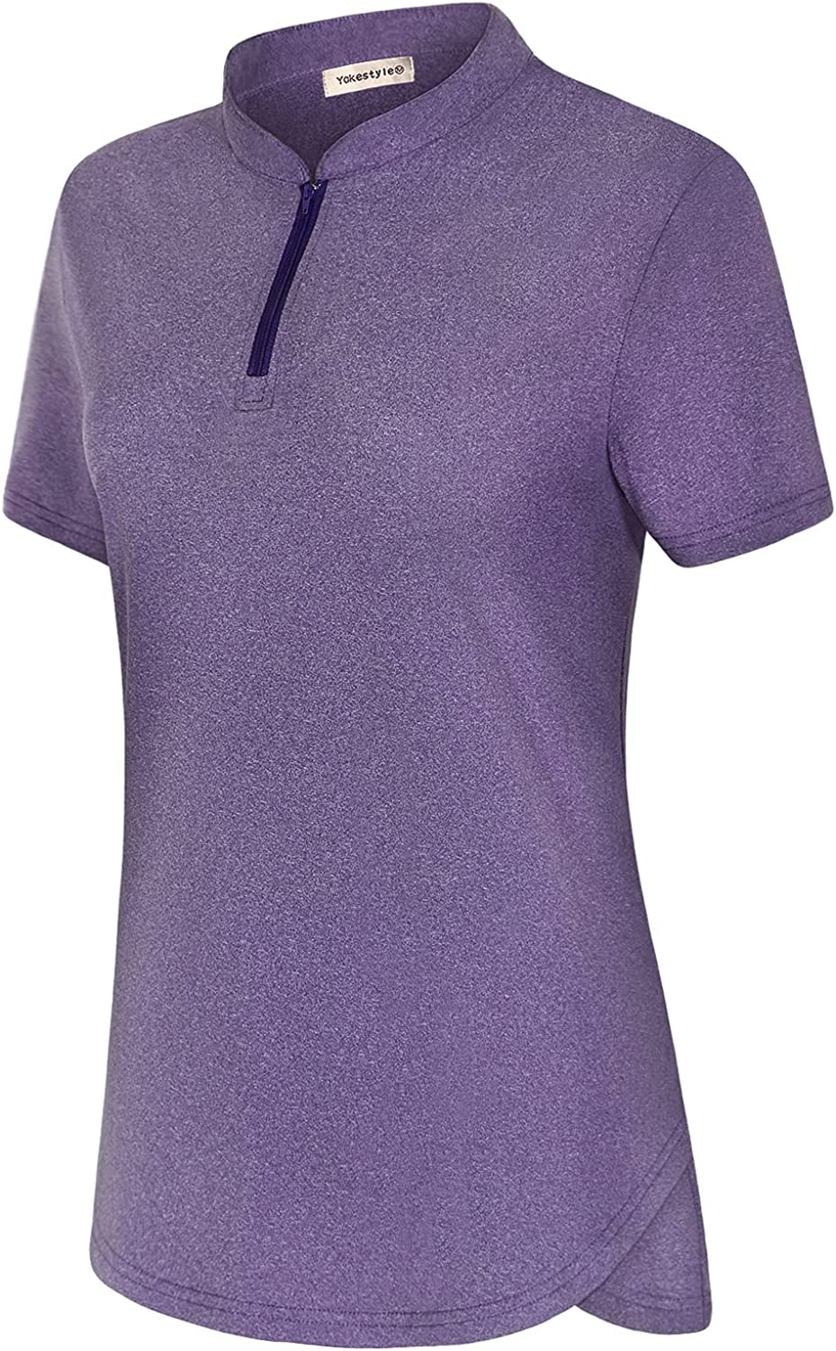 Yakestyle Women's Golf Bombing new work Polo Shirt Quarter Tennis High quality Dry A Zip Quick