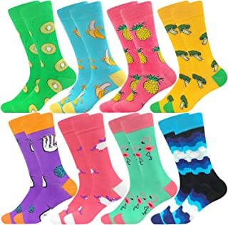 Mid Calf Colorful Socks Casual Combed Cotton Stockings Art Patterned Sock Mid Tube Funky Happy Packs for Men Women