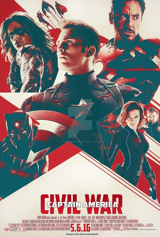 Amazon.de ARTDECO DY20 Poster, Motiv Captain America Civil War ...