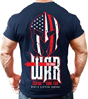 Monsta Clothing Co. Mens Bodybuilding Workout (ThisMeansWAR) Fitness Gym T-Shirt