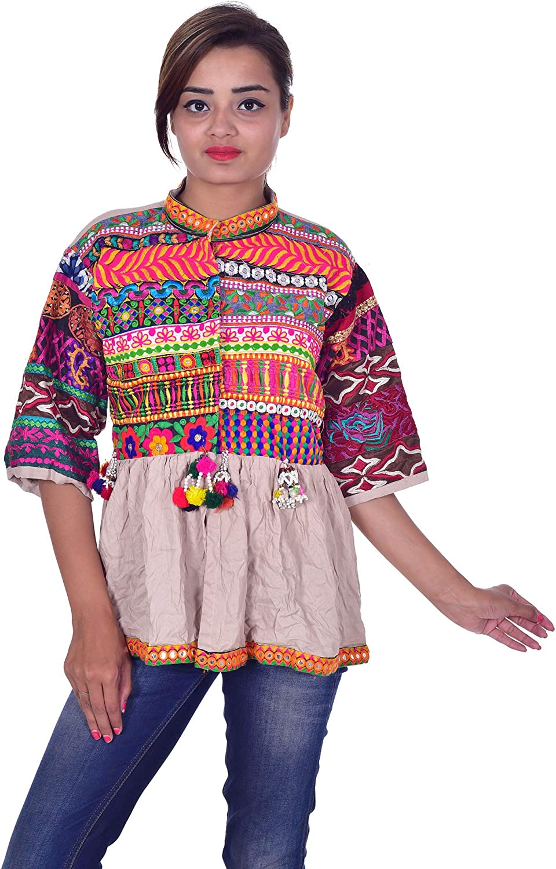 Lakkar Haveli Max 84% OFF Popular products Indian 100% Cotton Embroidere Jacket Banjara Women