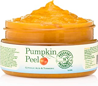 Pumpkin Peel Face Mask - Organic - Smells like fresh pumpkin - Peels, Exfoliates, Moisturizes