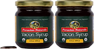 Organic Yacon Syrup 17.6oz (500g) - Peruvian Naturals | Low-Glycemic, Low-Calorie Sweetener for Weight Loss | Sugar Substitute