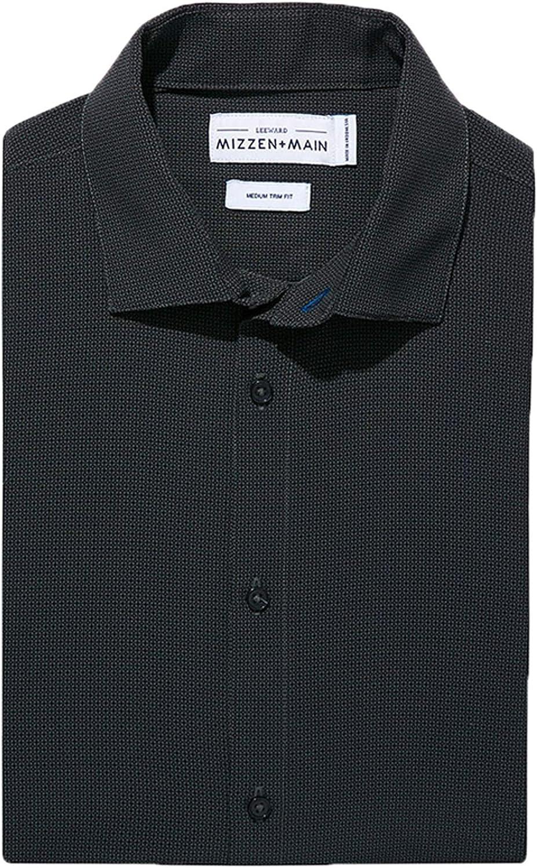 Mizzen + Main Men's Leeward Standard Fit Long Sleeve Dress Shirt