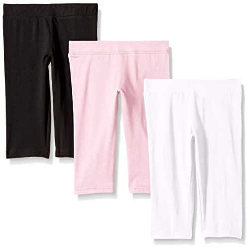 fb0c1b49a6e10 Clementine Apparel Girl's Soft Lightweight Stretchy Capri Pant Leggings  Pack ...