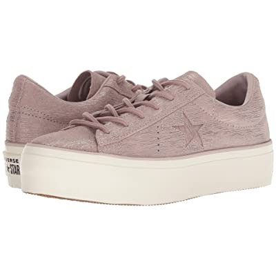 Converse One Star Platform Precious Metal Ox (Diffused Taupe/Silver/Egret) Women
