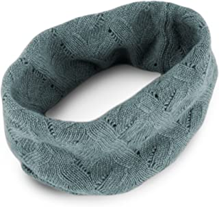 Women's 100% Cashmere Infinity Scarf Snood - Light Gray - made in Scotland by Love Cashmere RRP $150