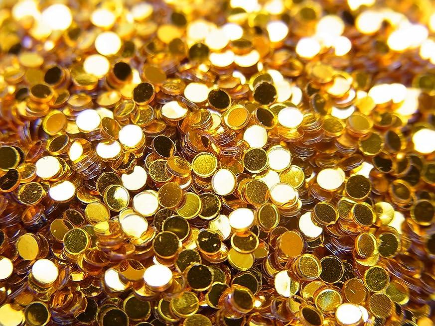 定常燃やす作り【jewel】丸ホログラム ゴールド 1.5mm 0.5g