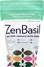 Edible Basil Seeds, USDA ORGANIC Cert. High in Fiber Premium Quality. Nutrition FACTS Cert. 2020 guideline Woman own