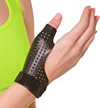 BraceAbility Hard Plastic Thumb Splint | Arthritis Treatment Brace to Immobilize & Stabilize CMC, Basal and MCP Joints for Trigger Thumb, Tendonitis Pain, Sprains (Small - Right Hand)