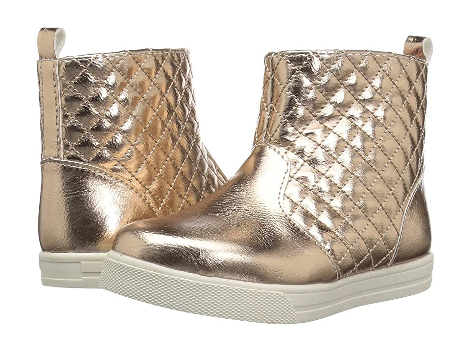 Baby Deer First Steps Quilted Boot (Infant/Toddler) (Rose Gold) Girls Shoes