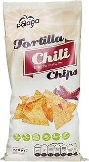Palapa Tortilla Chips Chili   450 gr   Mexikanischen Küche   Ohne Konservierungsstoffe   Hervorragender Geschmack   Vegan   Glutenfrei
