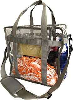 Planet Made Family Heavy-Duty Clear Stadium Bag- Stadium Approved 12 x 12 x 6- Quality Built w/Bottom Support Straps & Removable Shoulder Strap