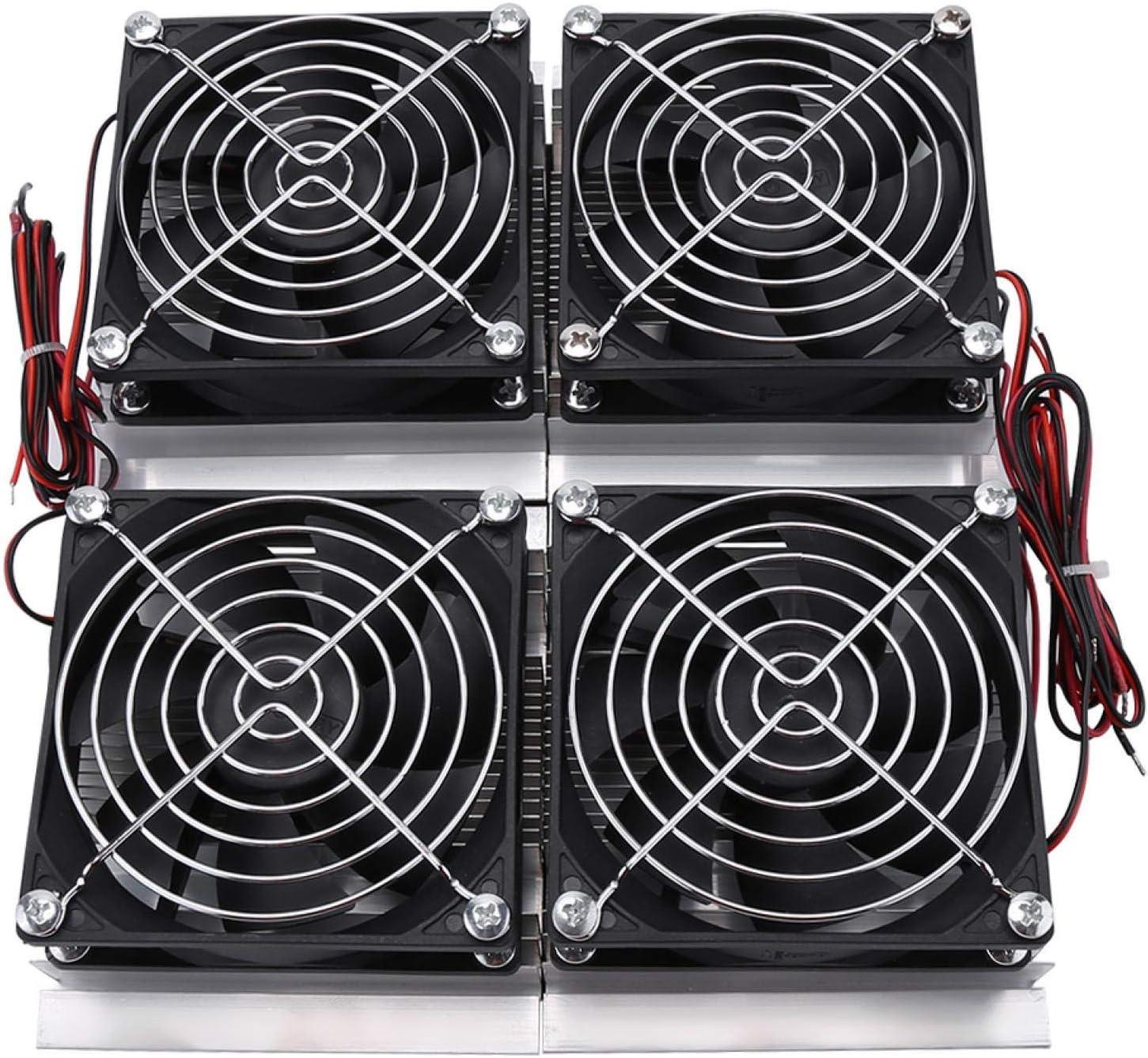 Kuuleyn Sistema de enfriamiento de semiconductores, Placa de refrigeración de semiconductores de 240 W, Enfriador de frío termoeléctrico Peltier con Ventilador, Mini Aire Acondicionado, refrigerador