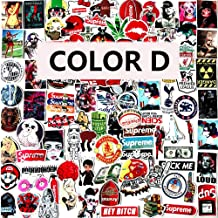 Laptop Stickers Vinyl Waterproof Graffiti - 97 Pack Decals Suitable for Water Bottle Car Motorcycle Bicycle Bumper Skateboard Helmet Luggage Phone Case DIY Decoration Gift [No-Duplicate] - D