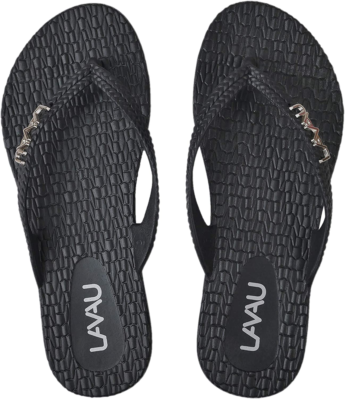 LAVAU Women Waterproof Flip Flops Shower OFFicial Sandal Water Same day shipping No-Slip
