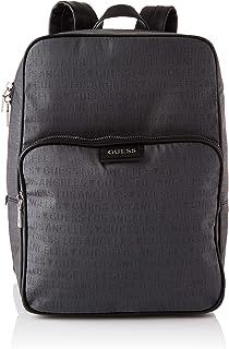 Guess Men's DAN LA Backpack Crossbody Bags, Black, 28x40x12,5 cm