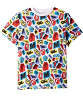 Stella McCartney Kids - Letters Collage Short Sleeve T-Shirt (Toddler/Little Kids/Big Kids)