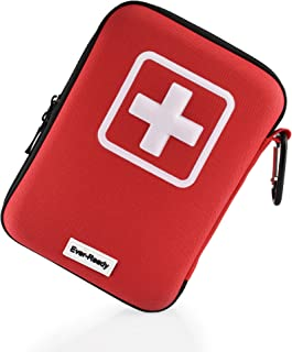 Super Sole Kit (135Piece) + Bonus Kit - Ever-Ready Keeping Your Family Safe in Emergencies - Fully Stocked for Your Car, Home or Office with Medical Supplies - A Small Top Rated Kit You Can Trust, Red