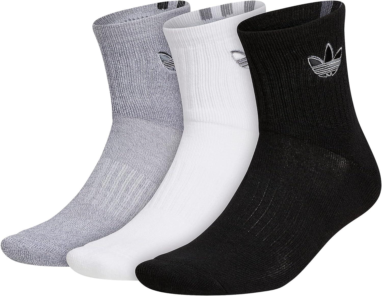adidas Originals Mens Courtside Cushioned Quarter Socks (3-pair)