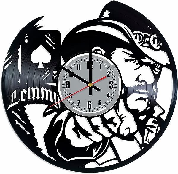 Lemmy Vinyl Wall Clock Lemmy Mot Rhead Music Band Art Handmade Wall Decor Made Vinyl Record Original Gift Any Occasion