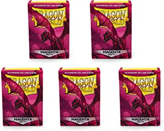 5 Packs Dragon Shield Matte Magenta Standard Size 100 ct Card Sleeves Value Bundle!