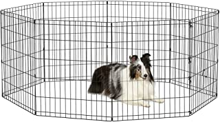 "New World Pet Products B552-30 Foldable Exercise Pet Playpen, Black, Medium/24"" x 30"""