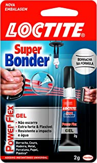 Cola Adesivo Instantâneo, Henkel, Loctite, Super Bonder, Power Flex Gel, 2 Gramas