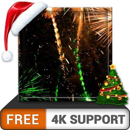 fogos de artifício grátis HD - decore o seu ano novo e as férias de Natal com incríveis fogos de artifício na sua TV HDR 4K 8K TV e dispositivos de incêndio como papel de parede e tema para comemoraçõ