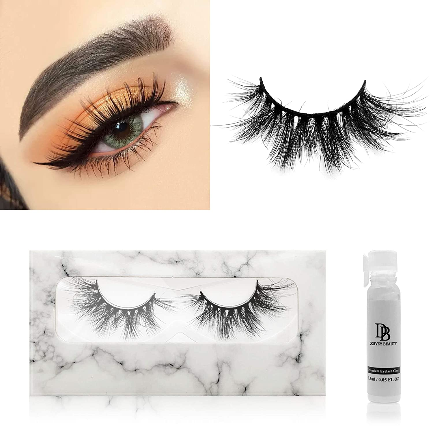 Dorvey Beauty Mink At the price of surprise cheap Lashes 3D 18mm Look Eyelashes Natural S