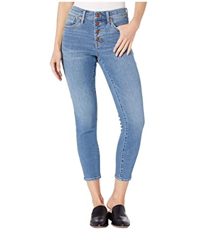 Madewell 9 High-Rise Skinny Crop Button Front in Dewey Wash (Dewey Wash) Women