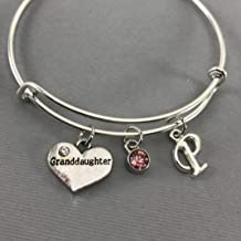 Granddaughter - Granddaughter Gifts - Gift for Granddaughter - Granddaughter Jewelry - Charm Bracelet - Personalized Jewelry- Grand Daughter