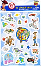 Disney Pixar Toy Story 4 Raised Sticker Sheet 3D Cartoon Character Collection Stationery Party Favor Creative Scrapbook Decor Arts & Crafts Activity Woody, Buzz Lightyear, Little Bo Peep (20+ Pcs)