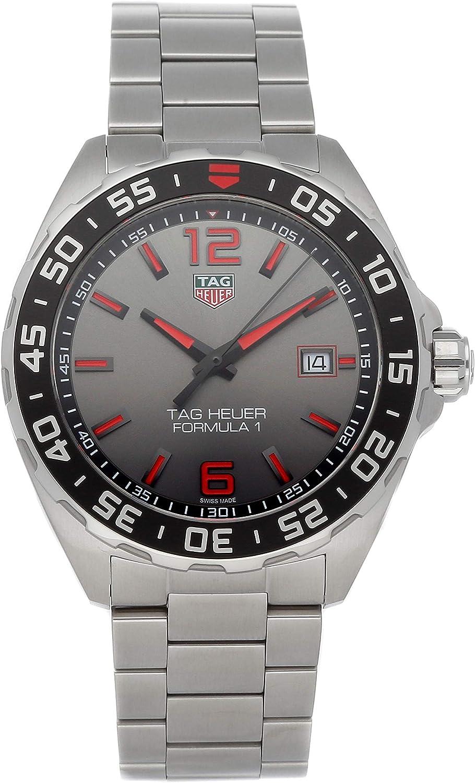 Tag Heuer Formula 1 cuarzo (barro) esfera gris reloj para hombre WAZ1018.BA0842 (usado)