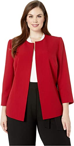 Plus Size Crepe Jacket