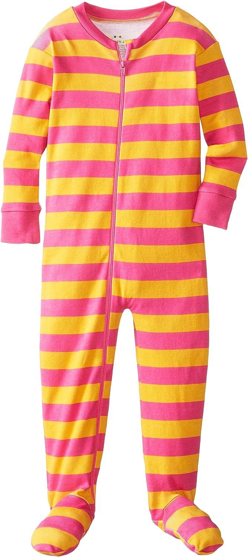 New Jammies Little Girls' Zippered Organic Classic Stripes Sleepers