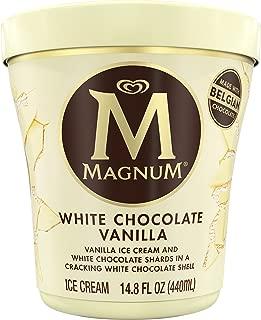 MAGNUM White Chocolate Vanilla Ice Cream, 14.8 oz. Tub (8 count)