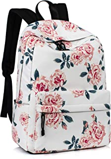 Leaper Fashion Water Resistant School Backpack for Girls 14Inch Laptop Beige