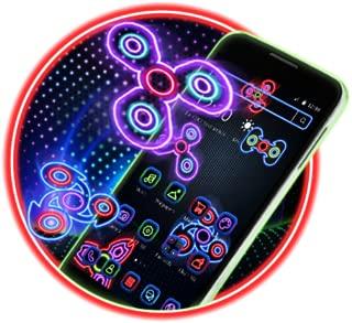 Neon Fidget Spinner Player 2D Theme