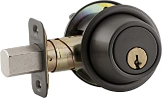 Schlage B560P 613 C Keyway Series B500 Grade 2 Deadbolt Lock, Single Cylinder Function, C Keyway, Oil Rubbed Bronze Finish