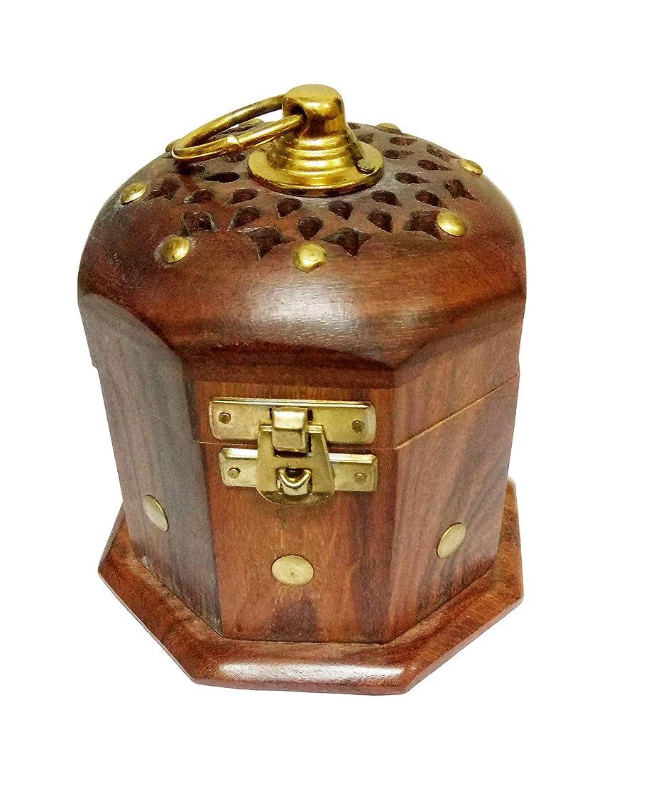 解釈する征服花瓶Sahishnu オンライン&マーケティング 木製クラシックムガール フープホルダー お香ホルダー