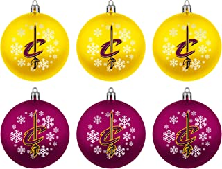 Cleveland Cavaliers Official NBA Holiday Christmas 6 Pack Shatterproof Ornament 769004