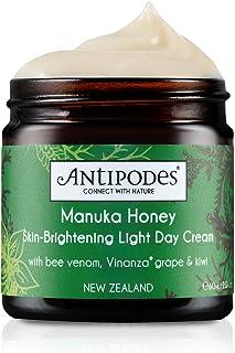 Antipodes Manuka Honey SkinBrightening Light Day Cream – Anti Blemish Moisturiser Manuka Honey Hyaluronic Acid Hydrating C...