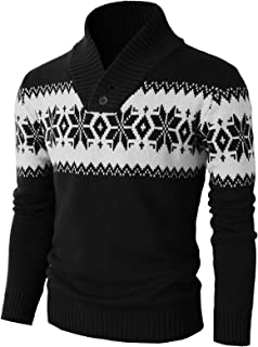 Mens Casual Slim Fit Knitted Pullover Sweaters Thermal of Various Christmas Pattern