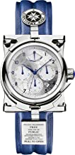 Doctor Who Men's Mechanical Chronograph Display Watch With Silver Dial And Blue