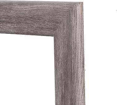 BrandtWorks Barn Wood Full Length Floor Vanity Wall Mirror, 33 x 72, Gray