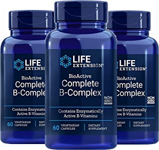 Life Extension Complete B-Complex Vegetarian Capsules, 60 Count x 3