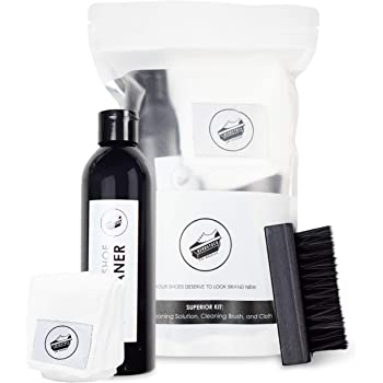 Deadstock Los Angeles Shoe Cleaner Kit - All Natural Solution 8 Oz. Solution, Brush & Cloth - Sneaker Cleaner Kit for: Canvas, Cloth, Mesh, Knit, and More!