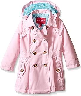 Girls' Little Lightweight Trench Dress Coat Jacket, Light Pink, 5/6