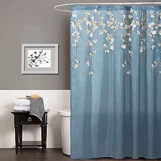 Lush Decor Lush Décor Flower Drops Shower Curtain, 72 inch X 72 inch, Blue, 72